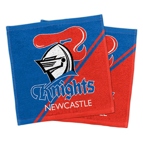 Newcastle Knights Set Of 2 Face Washers