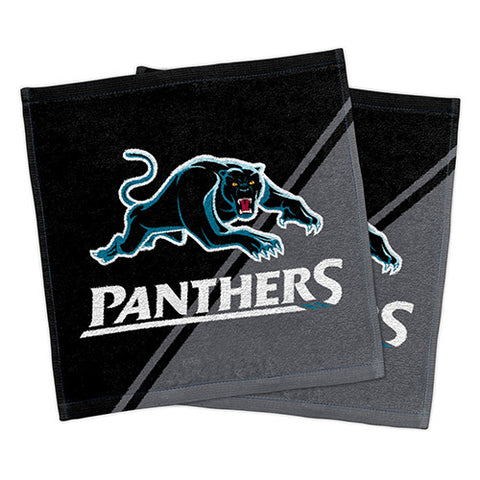 Penrith Panthers Set Of 2 Face Washers
