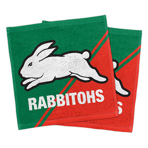 South Sydney Rabbitohs Set Of 2 Face Washers