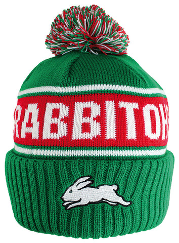 South Sydney Rabbitohs NRL Striker Pom Pom Beanie