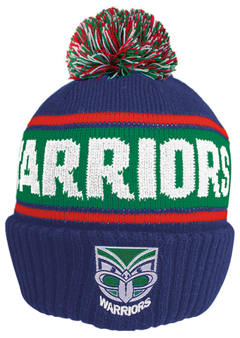 New Zealand Warriors NRL Striker Pom Pom Beanie