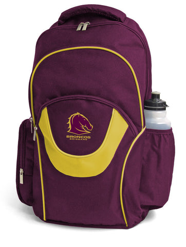 Brisbane Broncos NRL Fusion School Backpack Bag