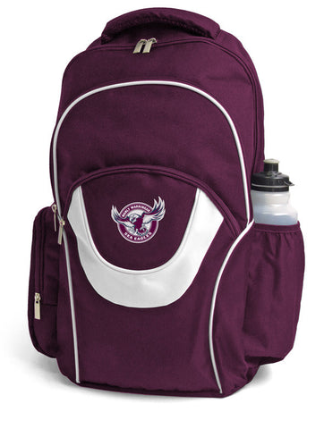 Manly Sea Eagles NRL Fusion School Backpack Bag