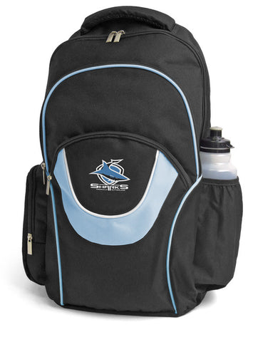 Cronulla Sharks NRL Fusion School Backpack Bag