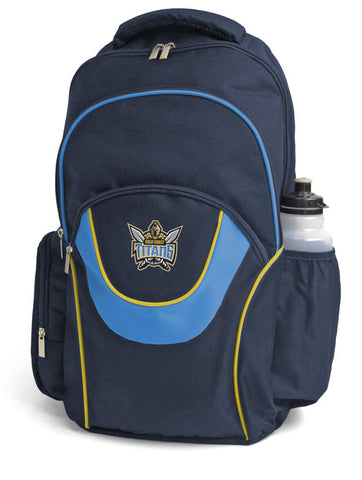 Gold Coast Titans NRL Fusion School Backpack Bag