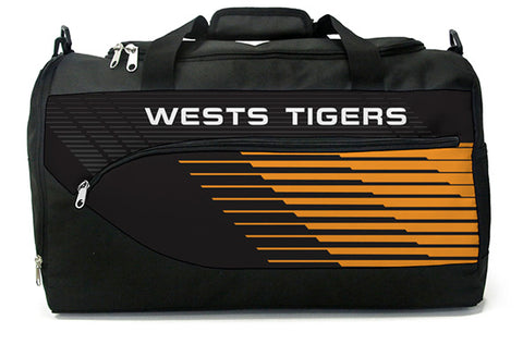 Wests Tigers NRL Bolt Travel Training Shoulder Sports Bag