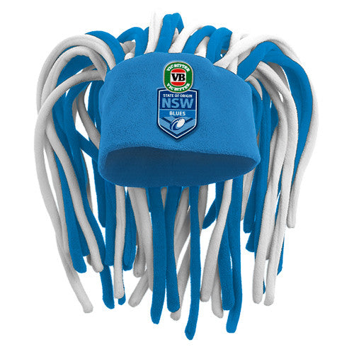 bec2ea214 New South Wales NSW Blues Dreadlock Pez Beanie Fun Hat