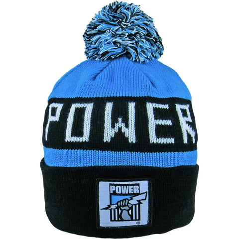 Port Adelaide Power Pom Pom Bar Beanie