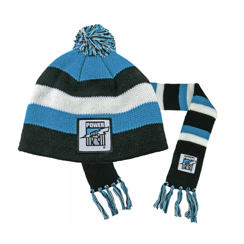 Port Adelaide Power Baby Pack - Baby Scarf and Beanie