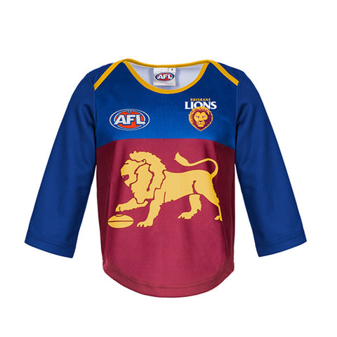 Brisbane Lions Longsleeve Baby Toddlers Footy Jumper Guernsey