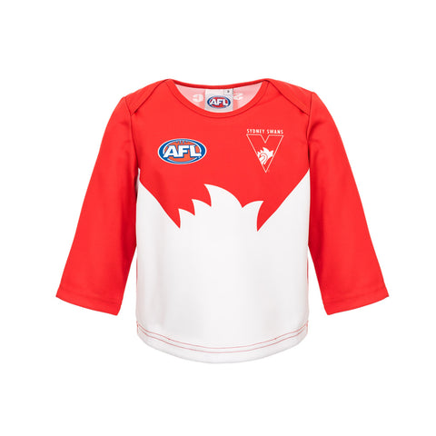 Sydney Swans Longsleeve Baby Toddlers Footy Jumper Guernsey