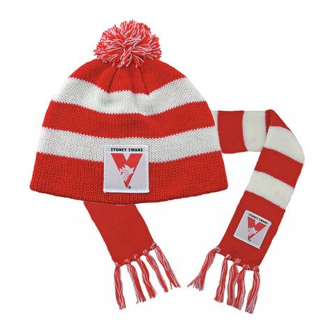 Sydney Swans Baby Pack - Baby Scarf and Beanie