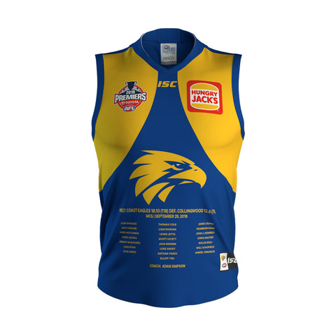 West Coast Eagles Mens 2018 Premiers ISC Jumper Guernsey