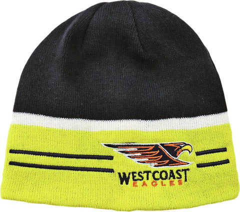 West Coast Eagles Reversible Beanie - Spectator Sports Online - 1