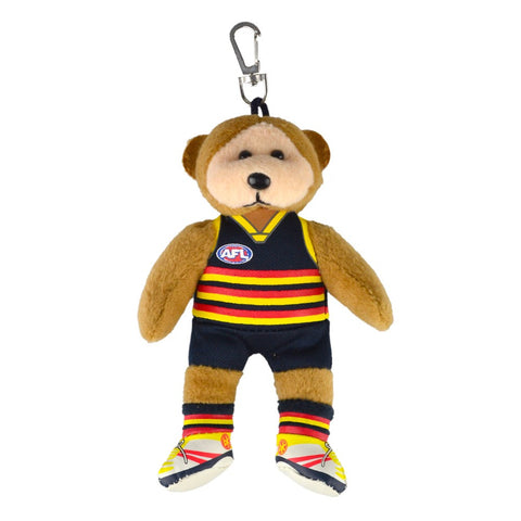 Adelaide Crows Beanie Bear Keyclip Tag