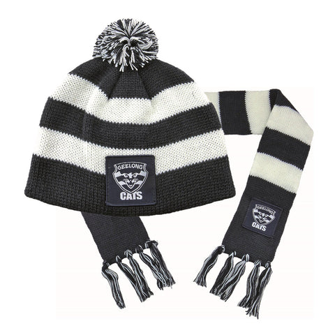 Geelong Cats Baby Pack - Baby Scarf and Beanie - Spectator Sports Online