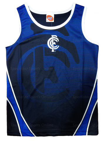 Carlton Blues Kids Boys Youths Training Singlet Tank Top - Spectator Sports Online - 1
