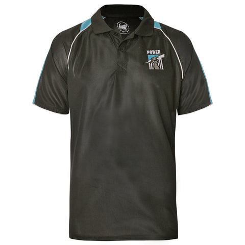 Port Adelaide Power Mens Essentials Polo T-Shirt