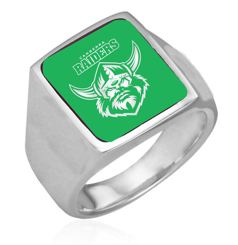 Canberra Raiders Stainless Etched Logo Ring - Spectator Sports Online