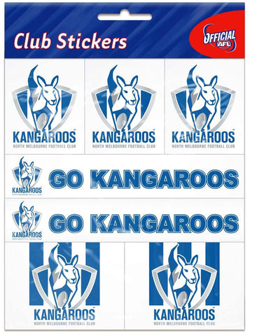 North Melbourne Kangaroos Club Stickers - Spectator Sports Online