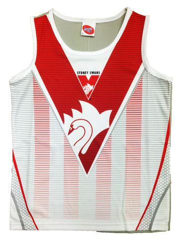 Sydney Swans Youth Sublimated Polyester Singlet Tank Top - Spectator Sports Online - 1