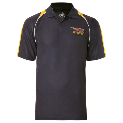 West Coast Eagles Mens Essentials Polo T-Shirt