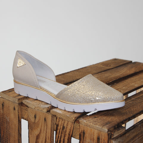 Bugatti Jenna Evo Damen Slipper in offwhite/gold