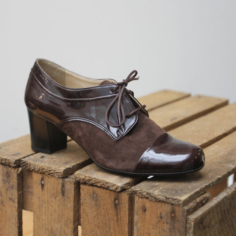 Marc Shoes Leona Damen Schnürer mit Absatz in mocca