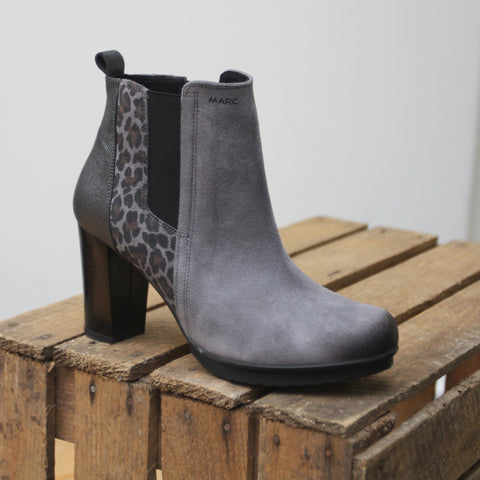 Marc Shoes Edina Damen Stiefelette in grau/combi