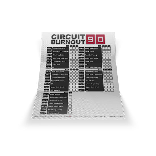 Circuit Burnout 90 Training Calendar
