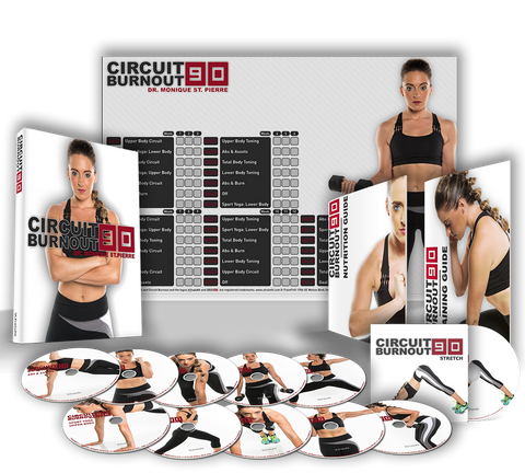 Circuit Burnout 90 Workout Program. 11 DVD's, Training Calendar, Guide, and Nutrition Plan