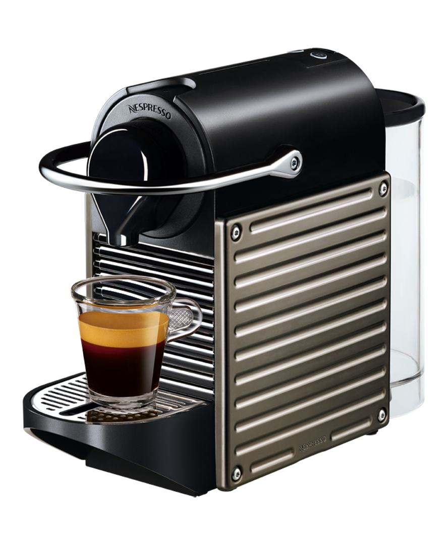 Nespresso Pixie by Krups, Titan | Complimentary 30 capsules