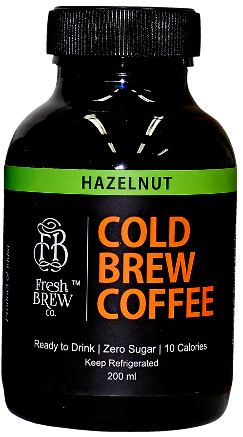 Cold Brew Coffee | Hazelnut | 4 Bottles