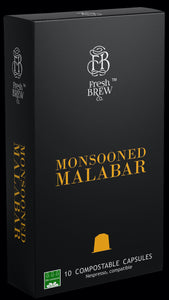 Monsooned Malabar| Intensity 7| Compostable Capsules
