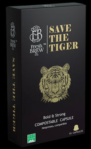 Save The Tiger | Intensity 10 | Compostable Capsule