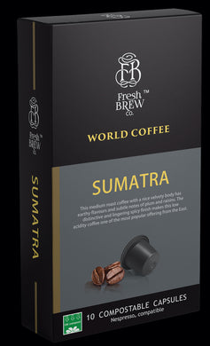 World Coffee : Sumatra | Intensity 6 | Compostable Capsule