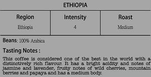 World Coffee : Ethiopia | Intensity 4 | Compostable Capsule