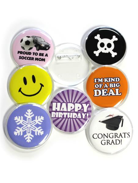 Snap-In Pinback Button Parts  - Button Parts - 1