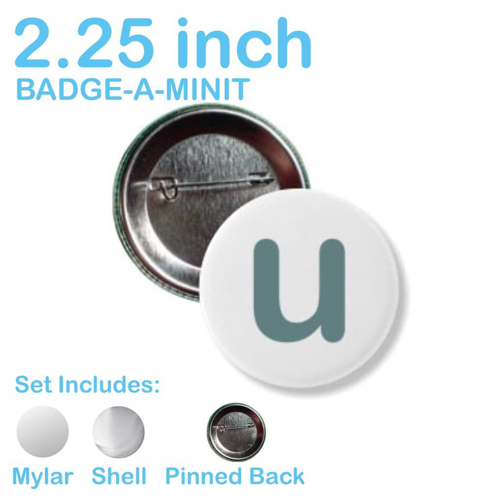 Sample Button Parts Badge-A-Minit Pinback / 2.25 Inch -  - 7