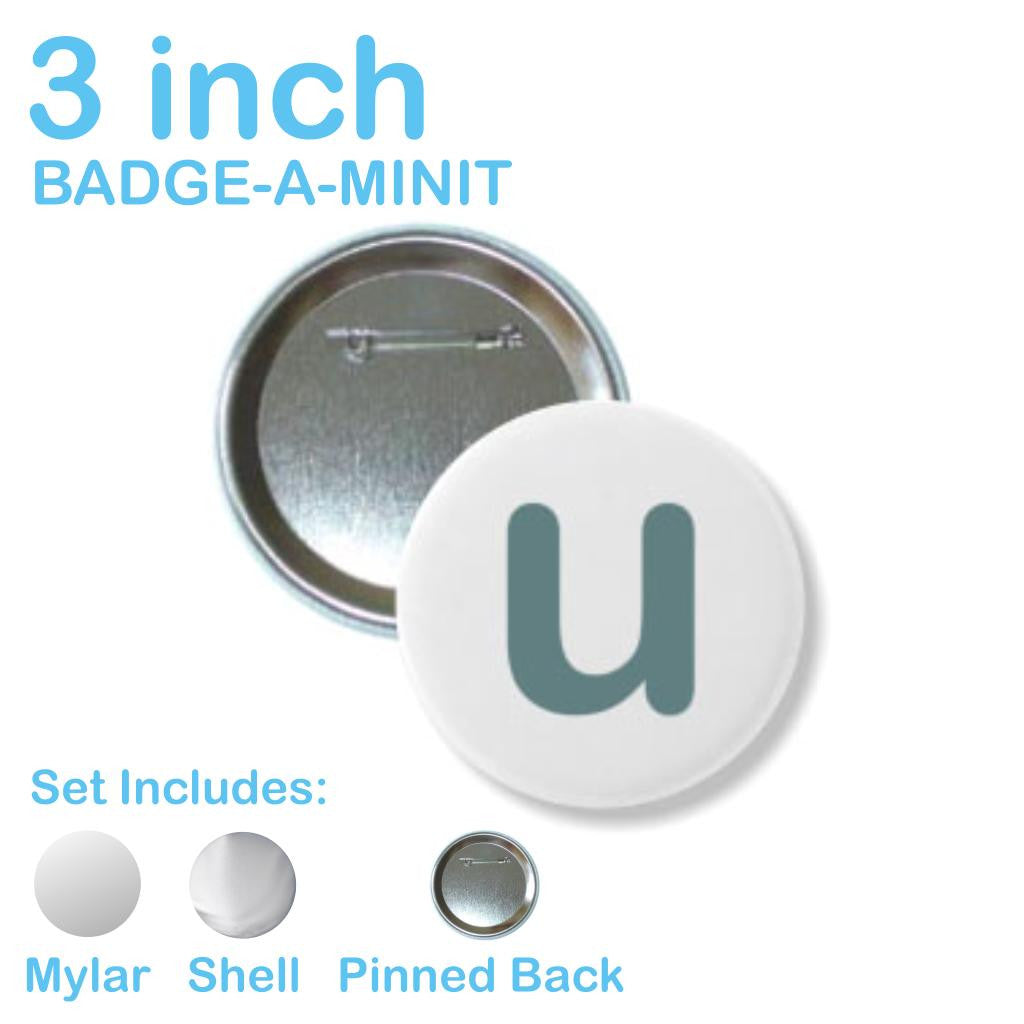 Badge-A-Minit Pinback Button Parts 3 Inch / 100 - Button Parts - 5