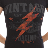 Vintage Racing Graphic Tee, Black/Red