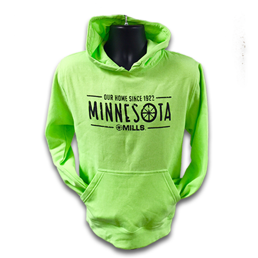 Mills MN Our Home, Neon Green/Black