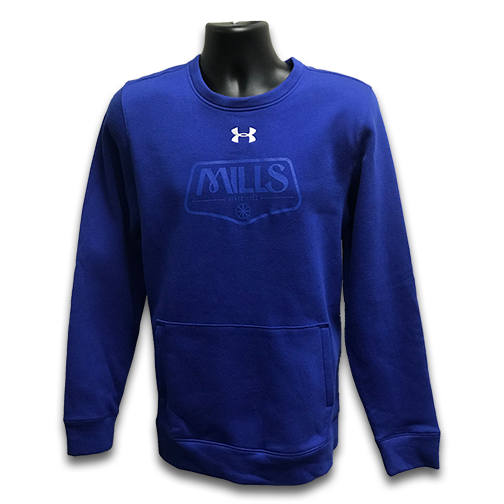 MAG UA Hustle Fleece Crew - Royal