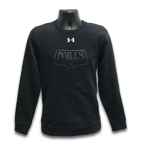MAG UA Hustle Fleece Crew - Black