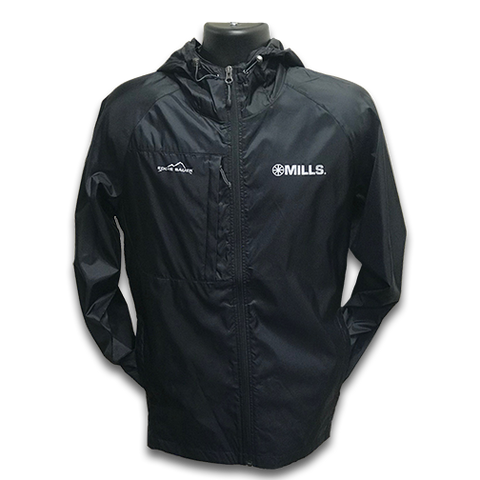 Mills Eddie Bauer Packable Wind Jacket - Black