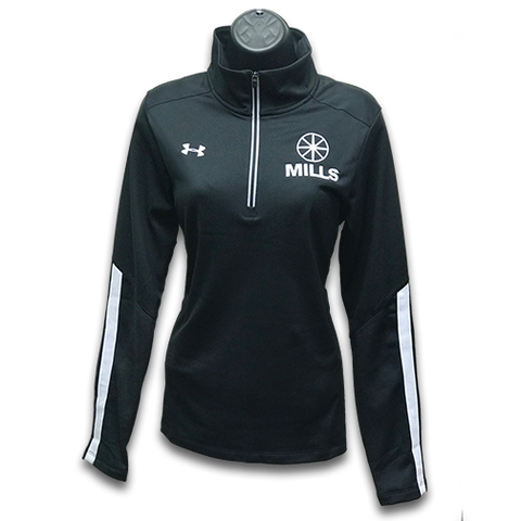 Women's MILLS Under Armour Qualifier 1/4 Zip Fleece - Black