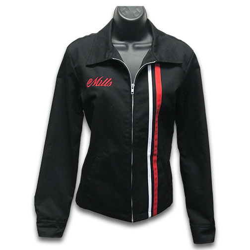 Mills Shop Girls Jacket - Black/Red & White