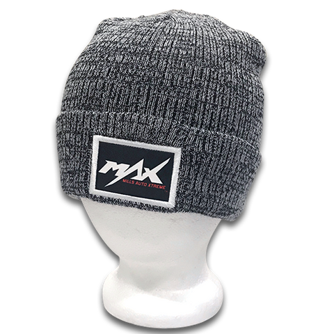 MAX Vintage Marbled Beanie - Gray/Black