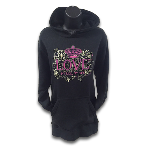 Mills Love My Ride Hoodie - Black