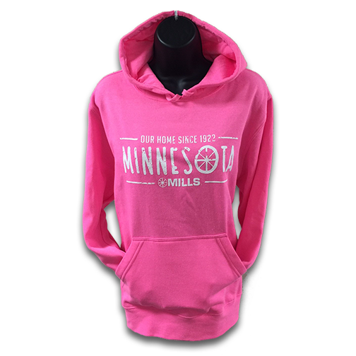 Mills MN Our Home, Neon Pink/White